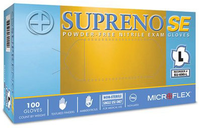 Microflex<sup>®</sup> Supreno SE Powder-free Nitrile Exam Gloves, Small
