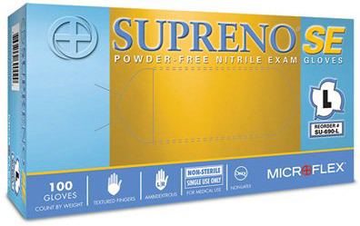 Microflex<sup>®</sup> Supreno SE Powder-free Nitrile Exam Gloves, X-Large