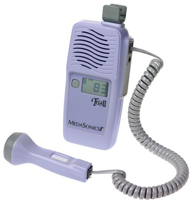 MedaSonics<sup>®</sup> TRIA<sup>®</sup> II Fetal Doppler with Accu-Rate<sup>™</sup> Display, Water-proof Probe
