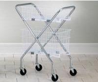 Folding Chrome Basket Cart