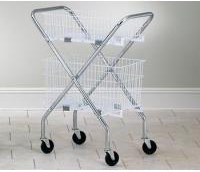 Folding Chrome Basket Cart