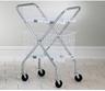 Folding Chrome Basket Cart (Baskets not Included)