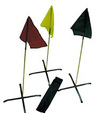 Conterra Triage Flag Kit, Red, Yellow, Green, Black, 4 Bases