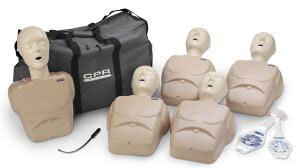 Nasco CPR Prompt<sup>®</sup> Training and Practice Manikins, Adult/Child, Tan, 5-pack
