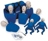 Nasco CPR Prompt<sup>®</sup> Training and Practice Manikins, Adult/Child/Infant 7-pack, Blue
