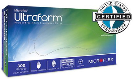 Microflex<sup>®</sup> Ultraform Powder-free Nitrile Exam Gloves