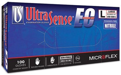 Microflex<sup>&reg;</sup> UltraSense<sup>™</sup> EC Nitrile Gloves, Large