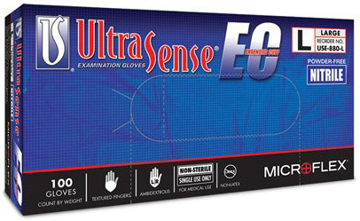 Microflex<sup>®</sup> UltraSense<sup>™</sup> EC Nitrile Gloves, Small