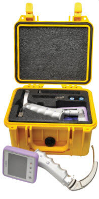 Carry Case for IntuBrite<sup>™</sup> Edge 6630 Handheld Video Laryngoscope, High-impact, Yellow (Pelican 1300)