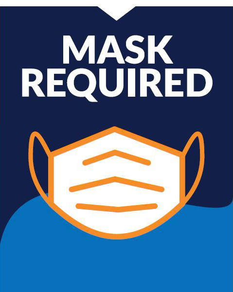"""Face Mask Required"" Social Distancing Window Cling Decals, 10-pack"