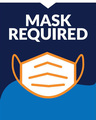 """""""Face Mask Required"""" Social Distancing Window Cling Decals, 10-pack"""