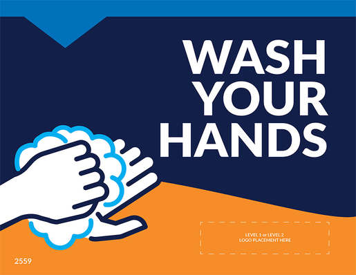 """Wash Your Hands"" Wall/Mirror Decals, 10-pack"