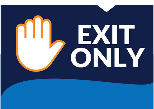 """Exit Only"" Social Distancing Wall/Door Decals, 10-pack"